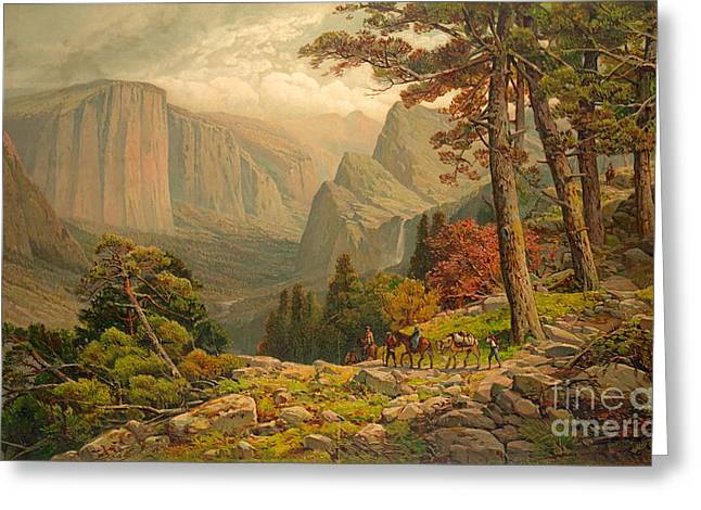 Yosemite Valley California 1887 Greeting Card by Padre Art