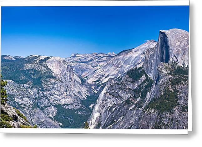Yosemite Valley From Glacier Point Greeting Card