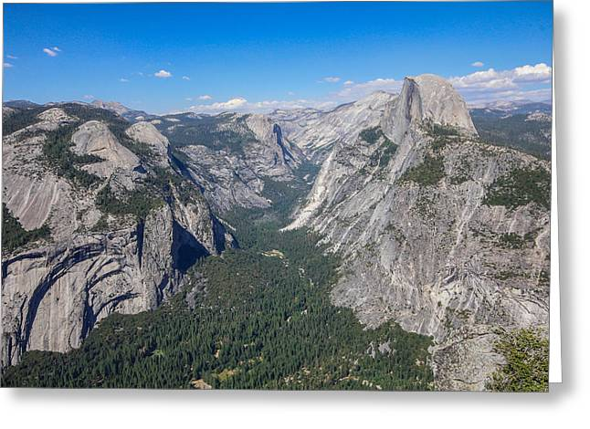 Yosemite Valley From Above Greeting Card