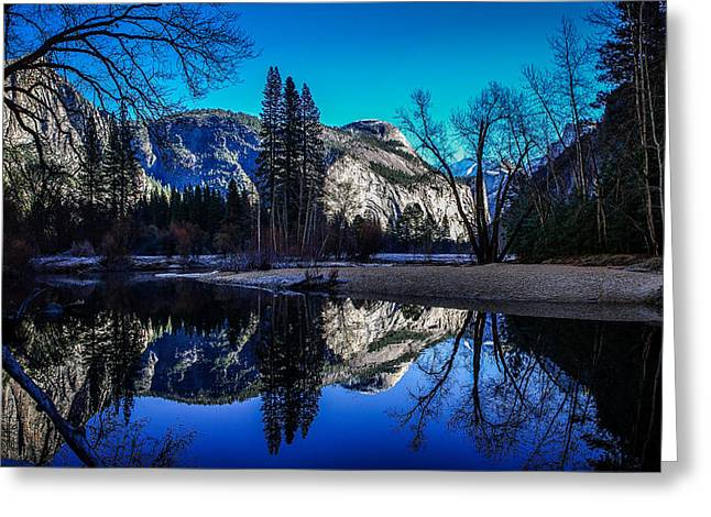 Yosemite Valley Merced River Reflection Greeting Card by Scott McGuire