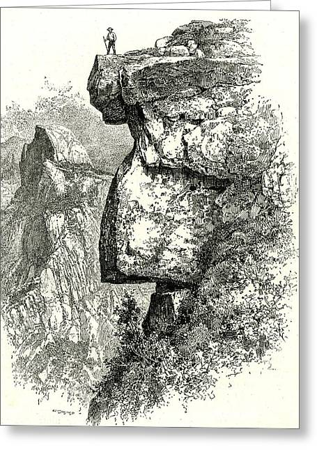 Yosemite Valley Upon Glacier Point Usa 1891 Greeting Card by English School