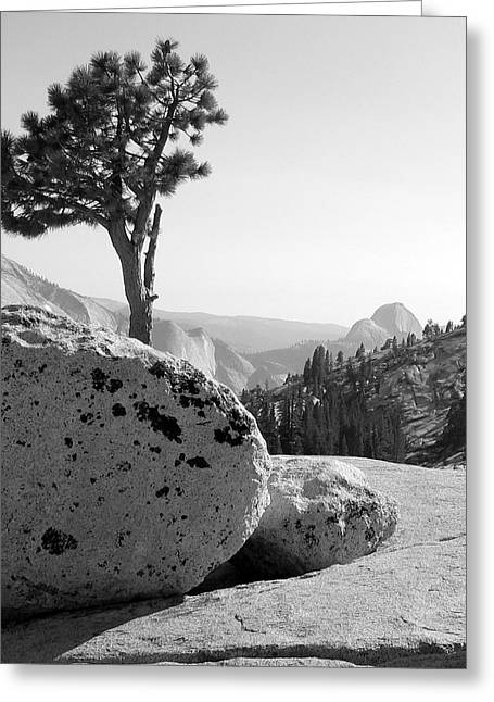 Greeting Card featuring the photograph Yosemite's Olmsted Point by Kevin Desrosiers