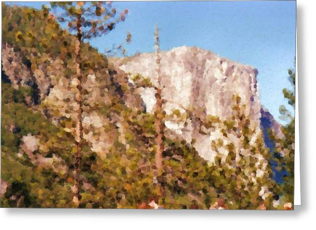 Yosimite White Mountain Painting Greeting Card