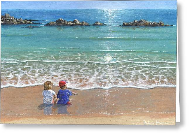 You And Me Greeting Card by Richard Harpum