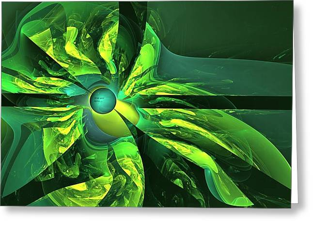 You Are Here --  Events Conspire -- Green Greeting Card by Doug Morgan