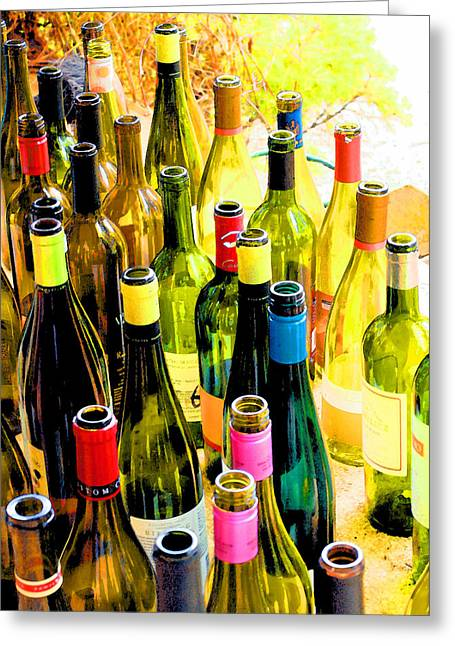 You Are Invited To A Wine Tasting... Greeting Card by Margaret Hood