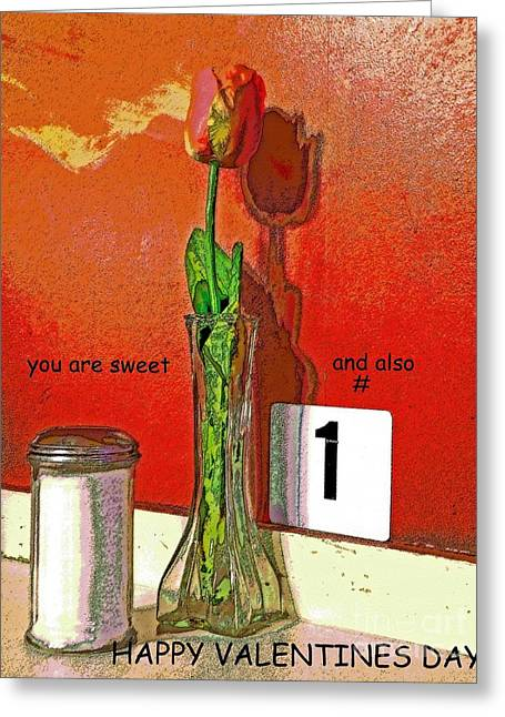 You Are Number 1 Greeting Card by Joe Pratt