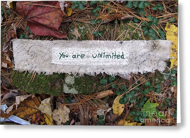 You Are Unlimited Greeting Card by Linda Marcille