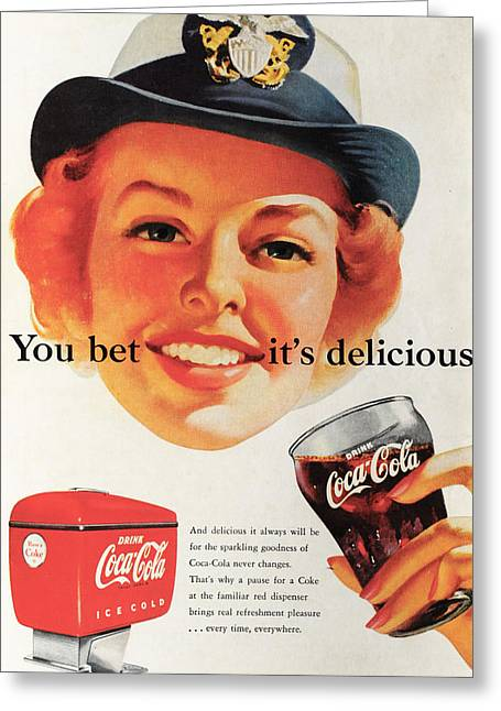 You Bet It's Delicious - Coca Cola Greeting Card