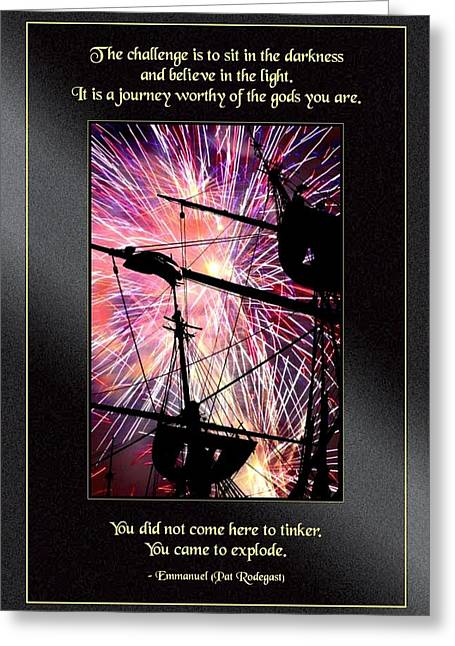 You Came To Explode Greeting Card by Mike Flynn
