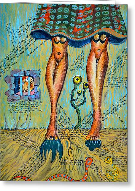 You Got Great Legs My Scottish Lad Greeting Card by Ion vincent DAnu