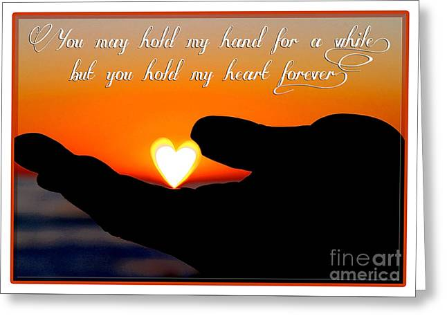 You Hold My Heart Forever By Diana Sainz Greeting Card