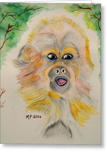 You Silly Monkey Greeting Card by Maria Urso