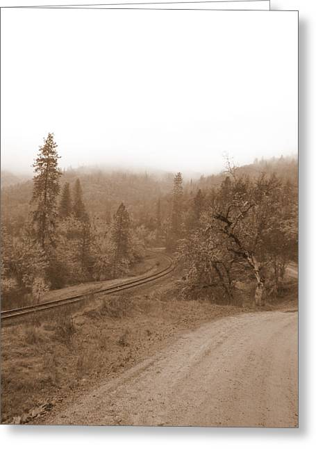 Greeting Card featuring the photograph You Take The High Road And I Will Take The . . .  by Marie Neder