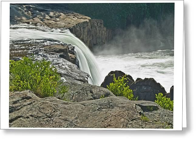 Greeting Card featuring the photograph Yough Falls Wat 217 by G L Sarti
