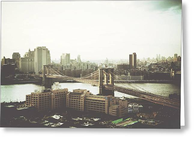 You'll Miss Her Most When You Roam ... Cause You'll Think Of Her And Think Of Home ... The Good Old Brooklyn Bridge Greeting Card