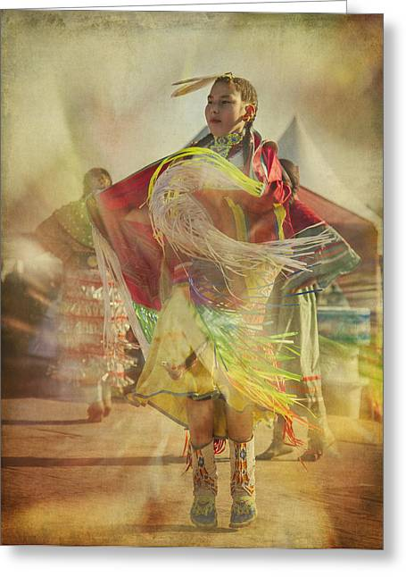Young Canadian Aboriginal Dancer Greeting Card
