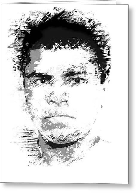 Young Cassius Clay Greeting Card by Daniel Hagerman