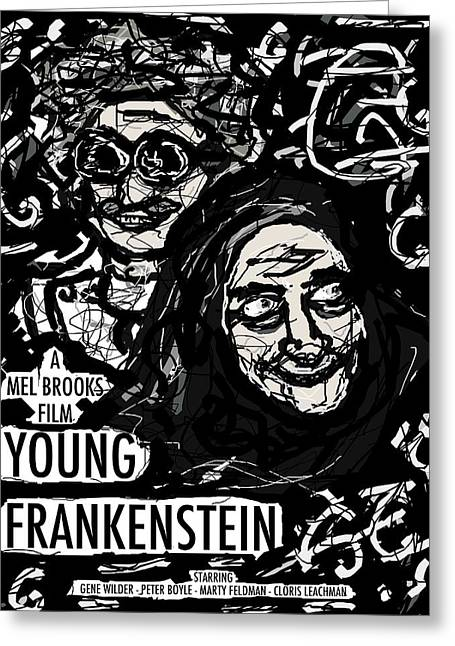 Young Frankenstein Poster Design Greeting Card