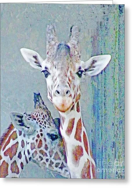 Young Giraffes Greeting Card