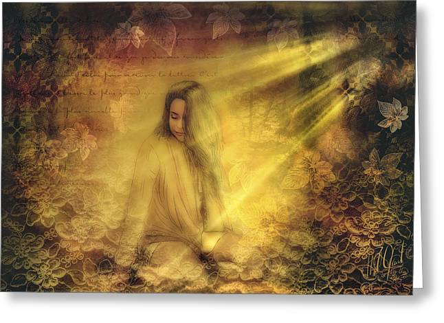 Young Girl In Sunlight Greeting Card