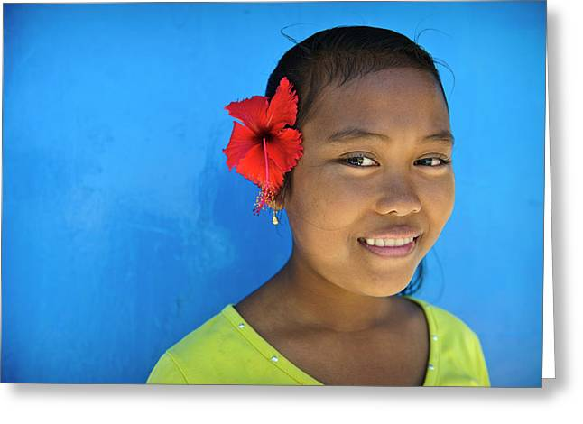 Young Girl Greeting Card