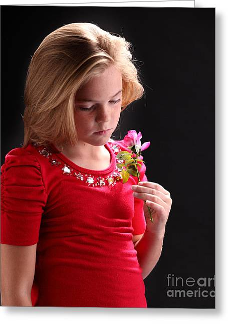 Young Girl's Daydream Greeting Card