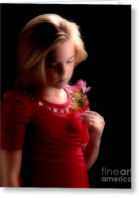 Young Girl's Nightdream Greeting Card
