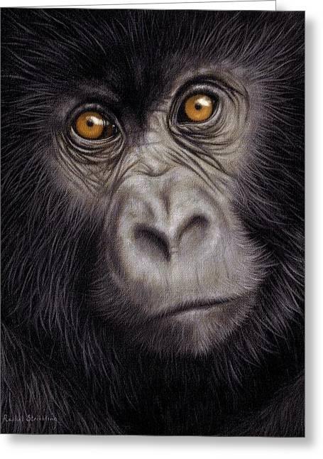 Young Gorilla Painting Greeting Card