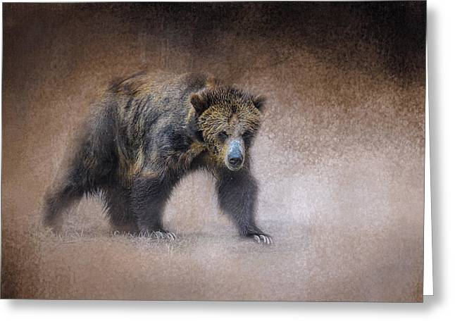 Young Grizzly Bear - Wildlife - Jai Johnson Greeting Card