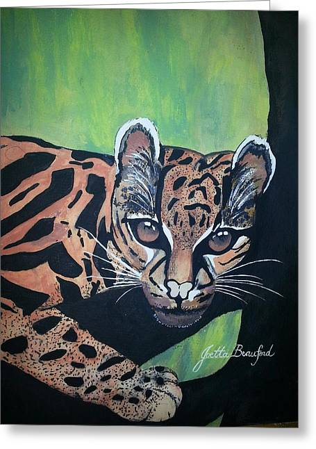 Greeting Card featuring the painting Young In Wild by Joetta Beauford