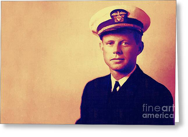 Young John Fitzgerald Kennedy Jfk 20130610v2 Greeting Card by Wingsdomain Art and Photography