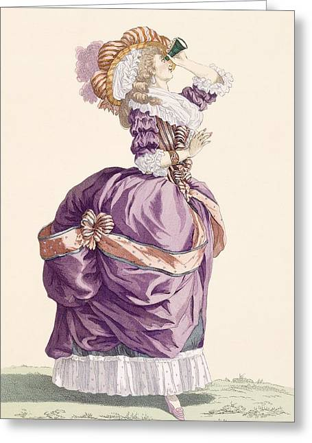 Young Lady, Engraved By Le Beau, Plate Greeting Card