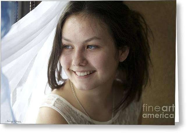 Young Lady......kazdy Z Nas Nosi W Sobie Piekno. Cala Sztuka Polega Na Tym By Umiec Je Odkryc. Greeting Card by  Andrzej Goszcz