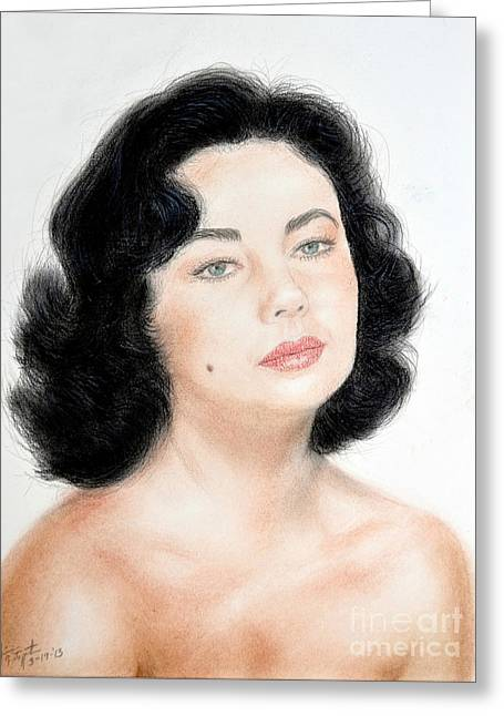 Young Liz Taylor Portrait Remake Greeting Card