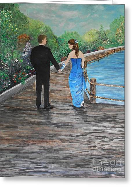 Young Love Greeting Card by Rhonda Lee