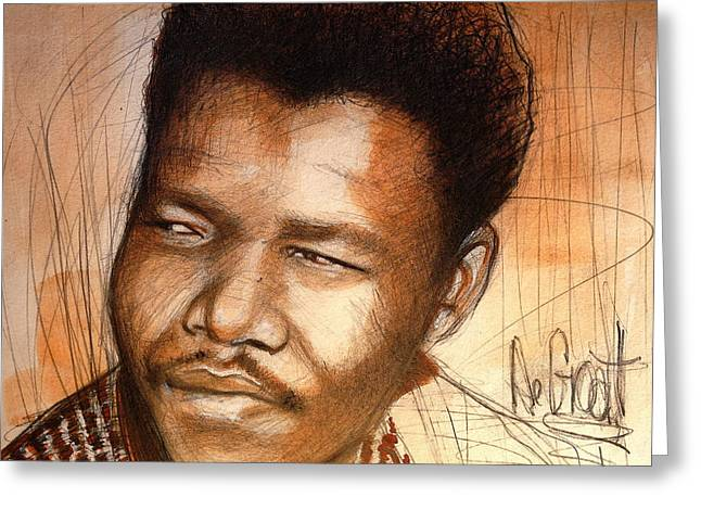 Young Mandela Greeting Card