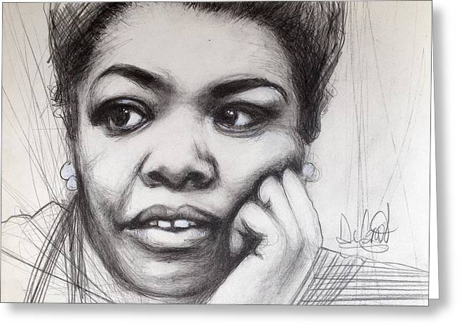 Young Maya Angelou Greeting Card