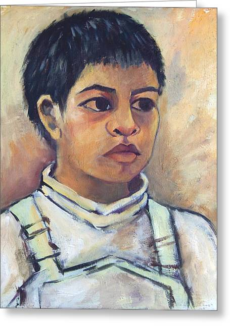 Young Mexican Boy Greeting Card