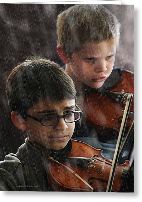 Young Musicians Impression #45 Greeting Card