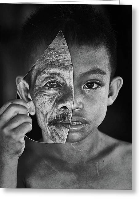 Young Or Old Greeting Card by Amaluddin