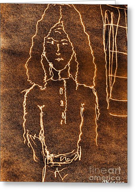 Bred Mixed Media Greeting Cards - Young Picasso smile Greeting Card by Yury Bashkin