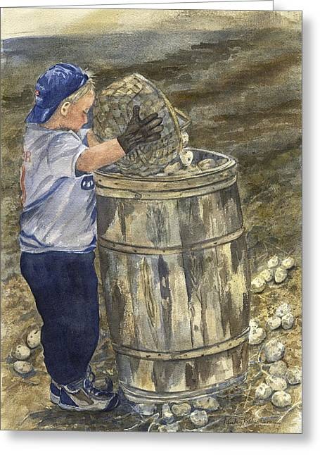 Young Picker 2 Greeting Card