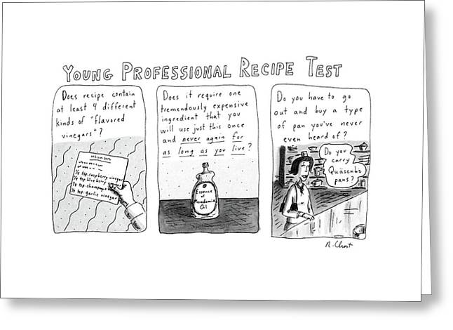 Young Professional Recipe Test Greeting Card