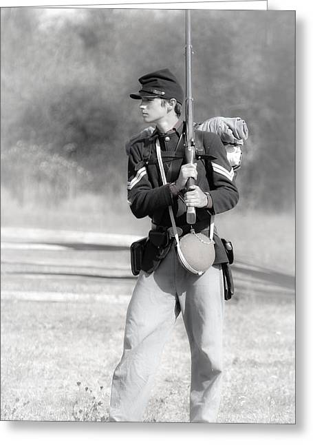 Young Soldier Greeting Card by Athena Mckinzie