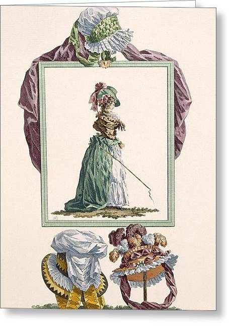 Young Woman Dressed In Pierrot Caraco Greeting Card