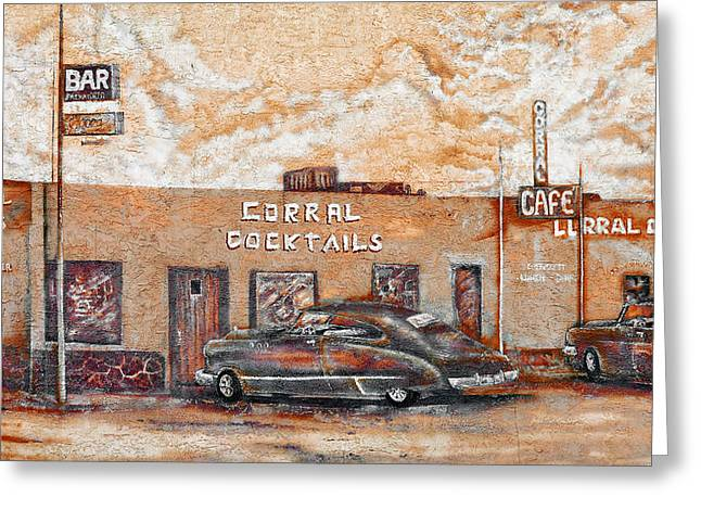 Young's Corral - Holbrook Az - Route 66 - The Mother Road Greeting Card