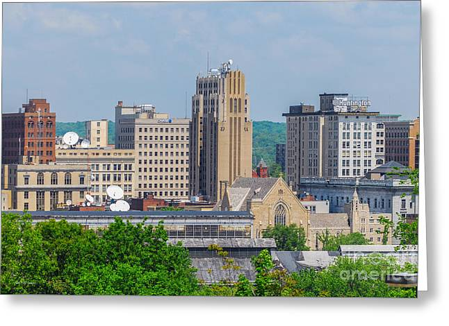 D39u-2 Youngstown Ohio Skyline Photo Greeting Card