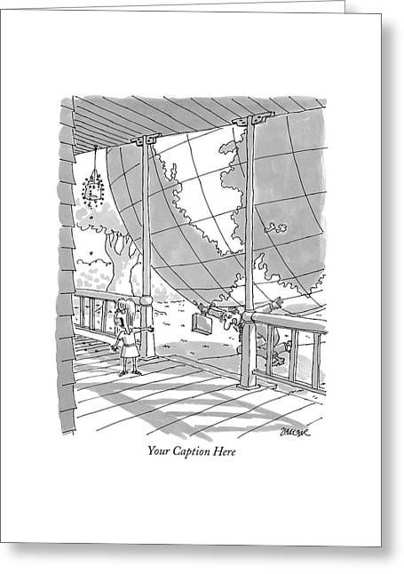 'your Caption Here' Greeting Card by Jack Ziegler