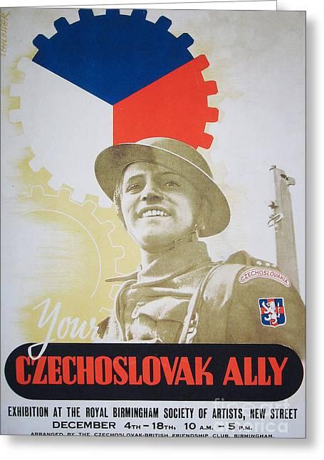 Your Czechoslovak Ally Greeting Card by Paul Fearn